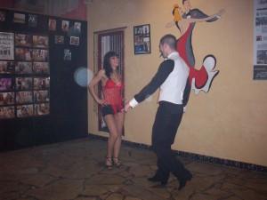Emilio y Fanny, bailan en el I Encuentro de Salsa y ritmos latinos 2010